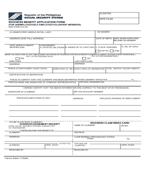 social security system application form