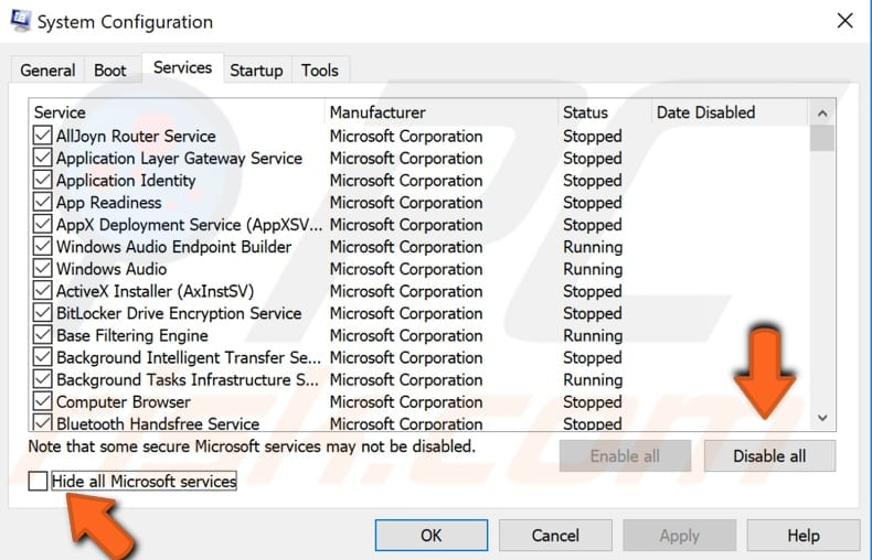 shadowprotect application not responding on startup