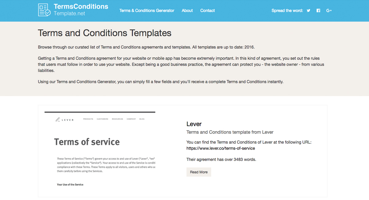 terms and conditions sample for applications