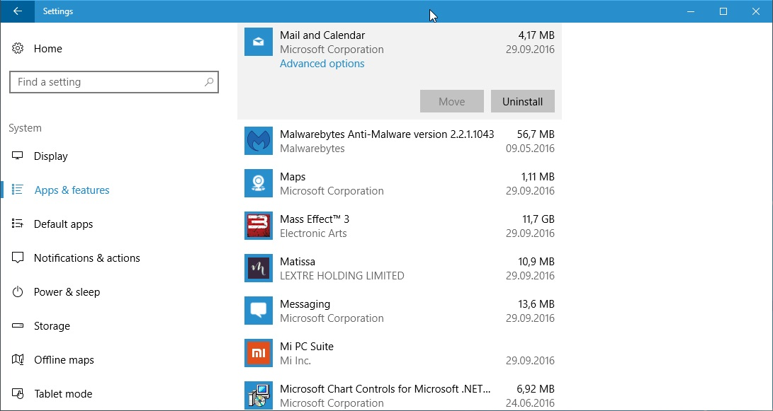 windows 10 some applications zoomed in