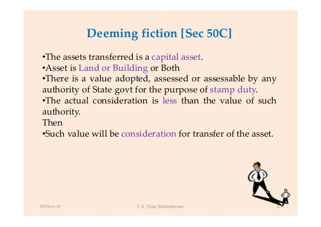 assets are applicable for deeming