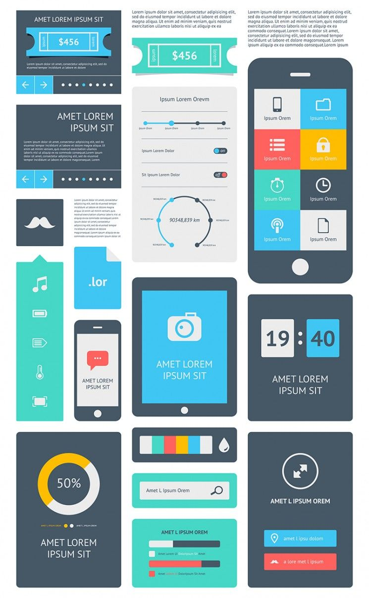 interface design for software applications and websites